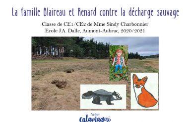 concours la famille blaireau et renard contre la decharge sauvage sindy charbonnier